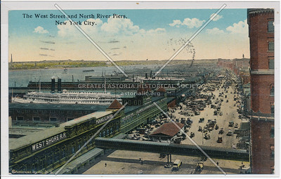 The West Street and North River Piers, New York City.