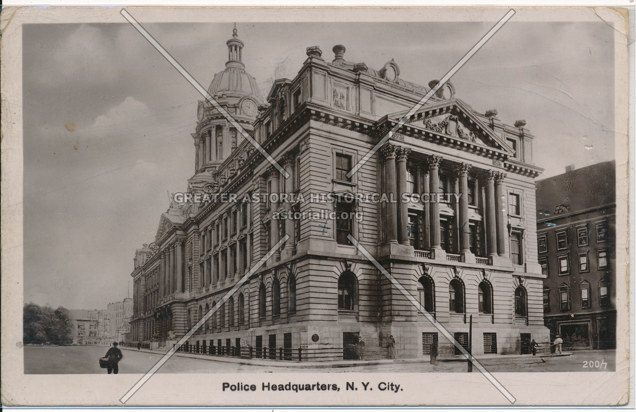 Police Headquarters, N.Y. City.