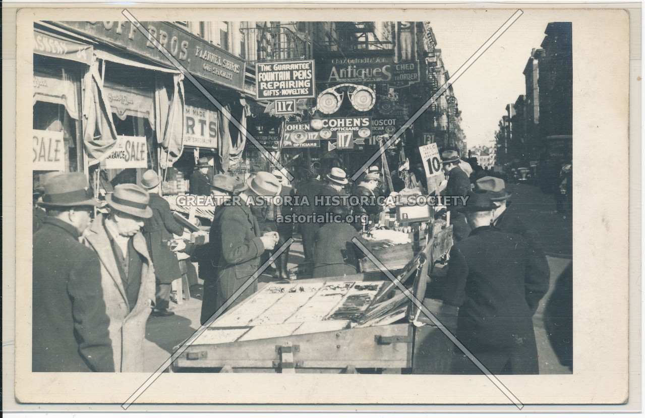 1930s Lower Manhattan Pushcarts