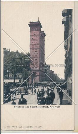 Broadway and Chambers Street, New York
