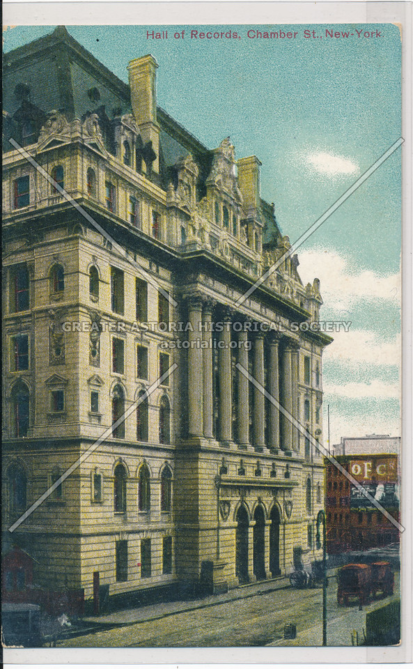Hall of Records, Chamber St., New York