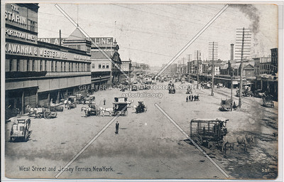 West Street and Jersey Ferries, New York