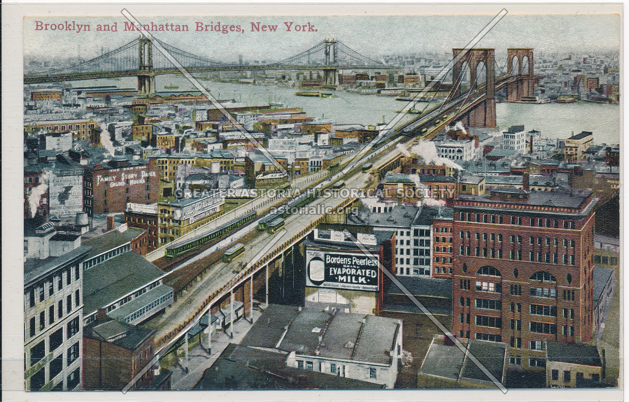 Brooklyn and Manhattan Bridges, New York