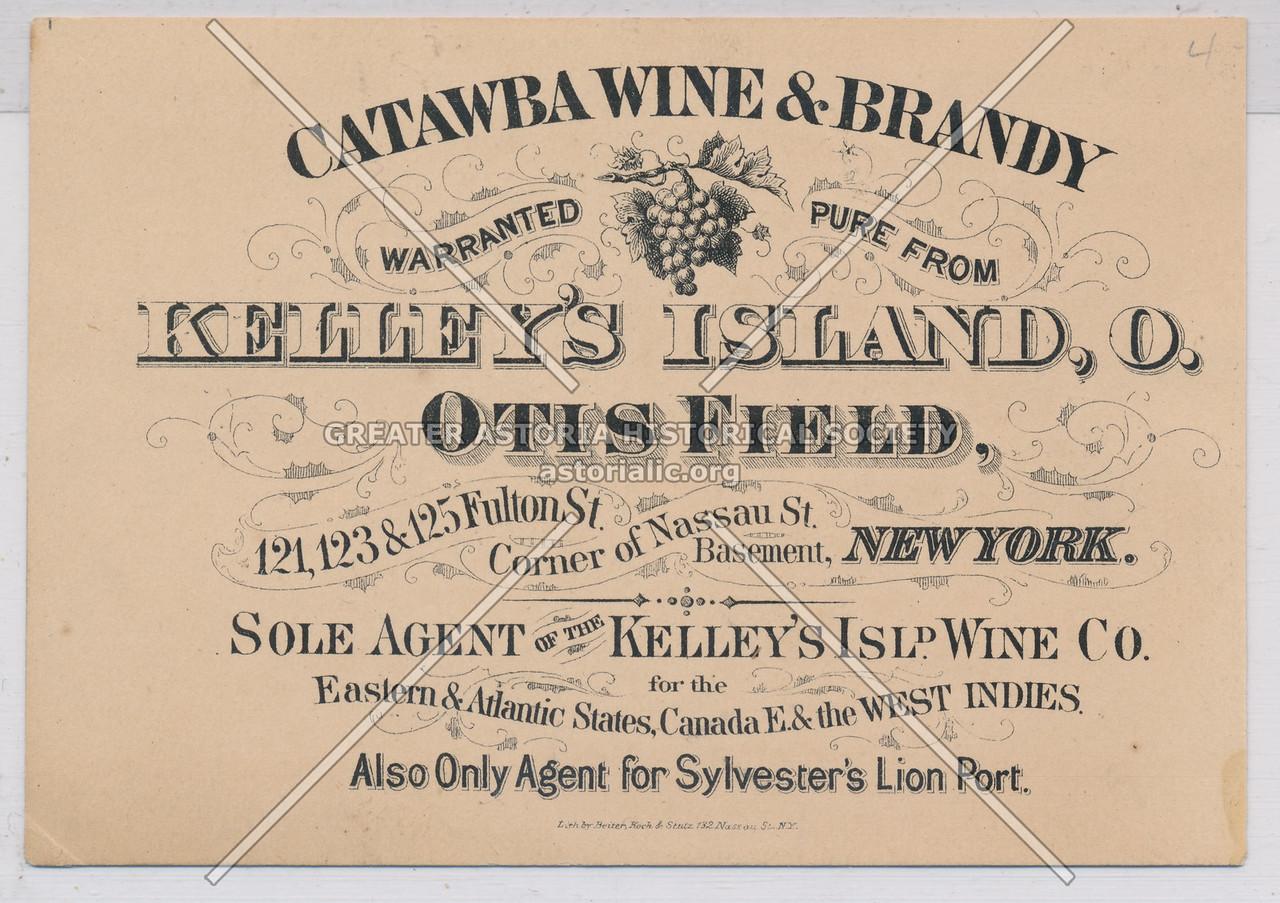 Catawba Wine & Brandy, Kelley's Island