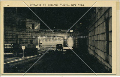 Entrance To Holland Tunnel, New York