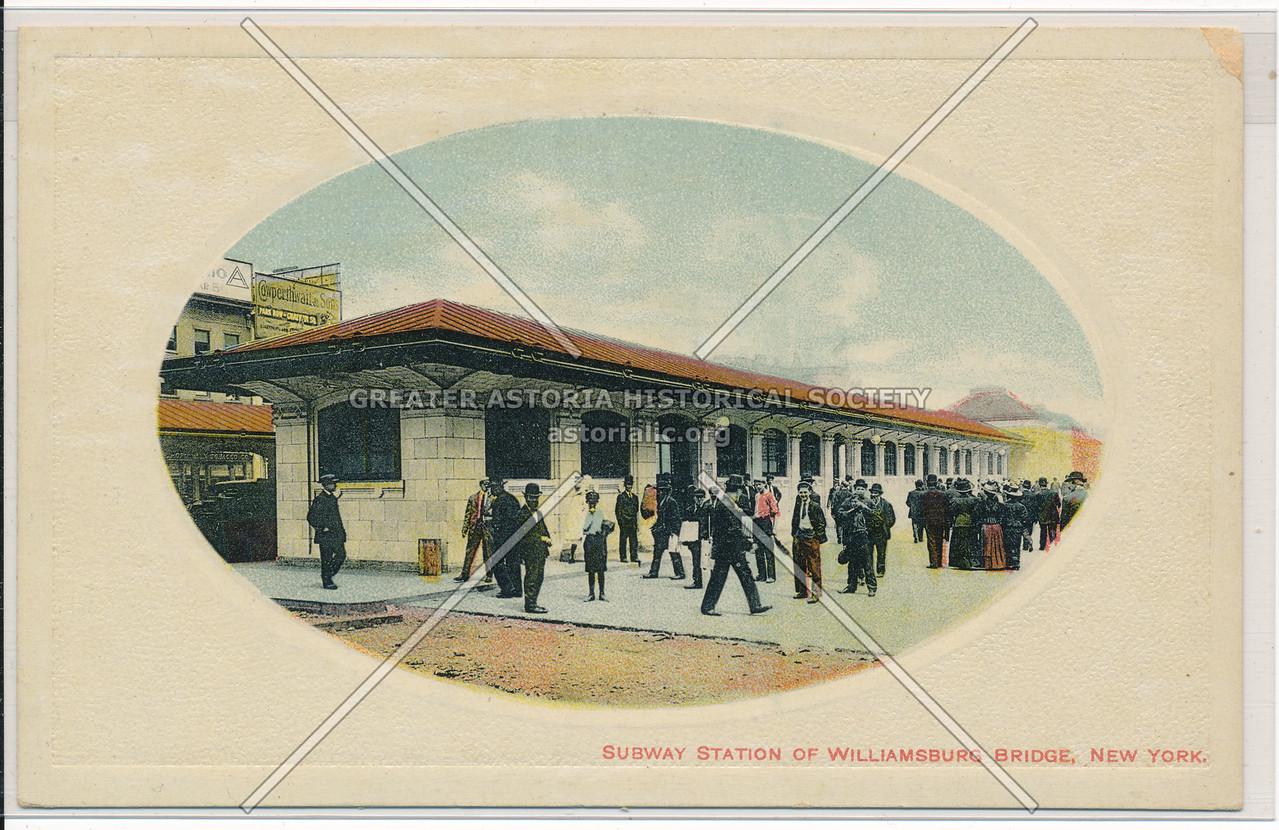 Subway Station Of Williamsburg Bridge, New York.