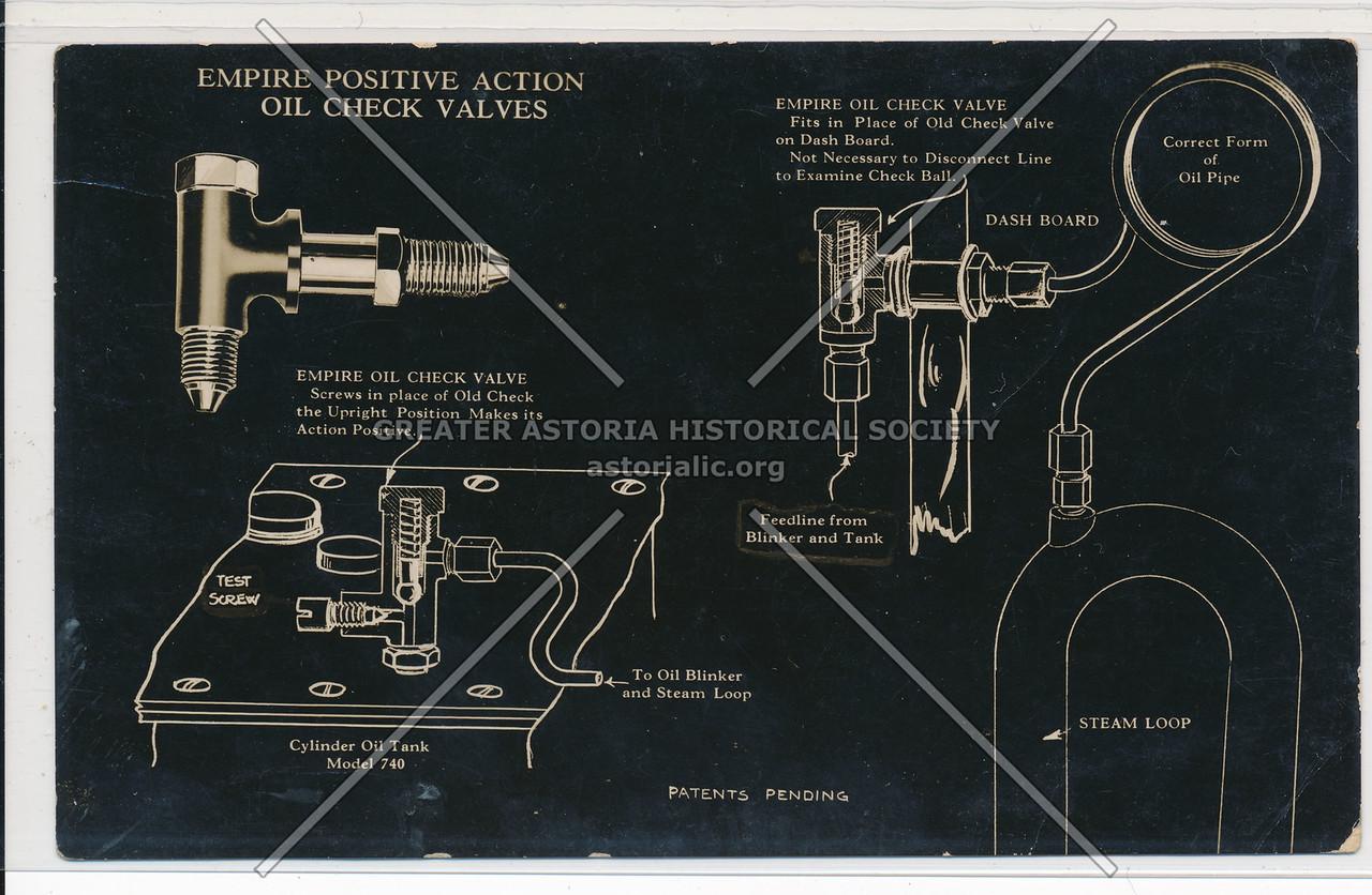 Empire Positive Action Oil Check Valves