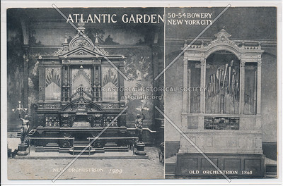 Atlantic Garden New Orchestrion 1909, Old Orchestrion 1865