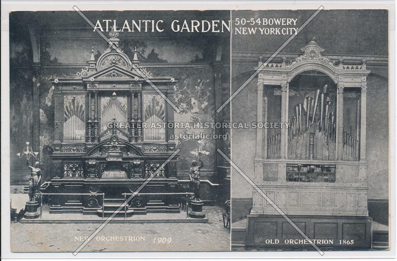 Atlantic Garden New Orchestrion 1909, Old Orchestrion 1865