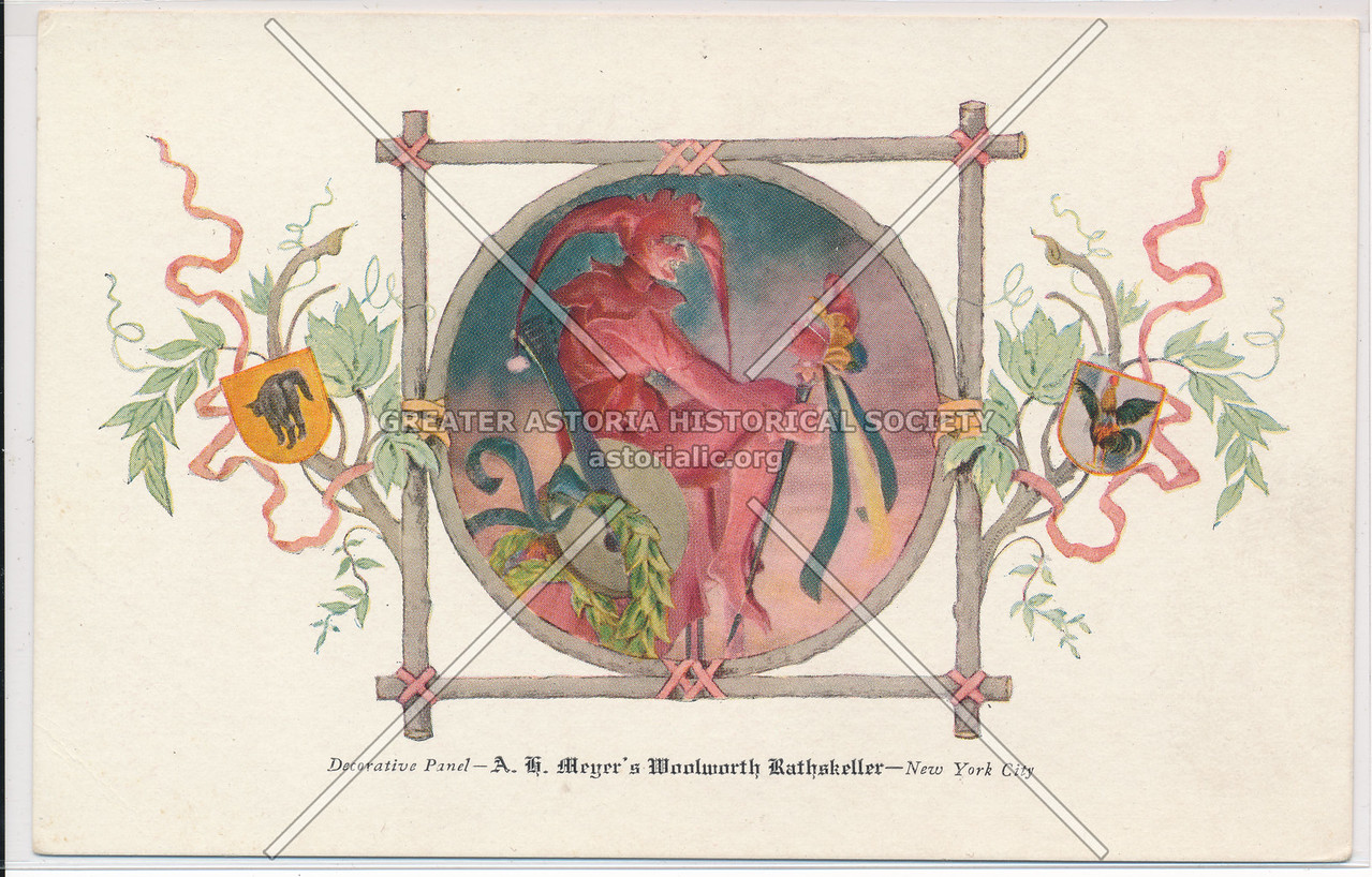 Decorative Panel, A.G. Meyer's Woolworth Rathskeller, New York City