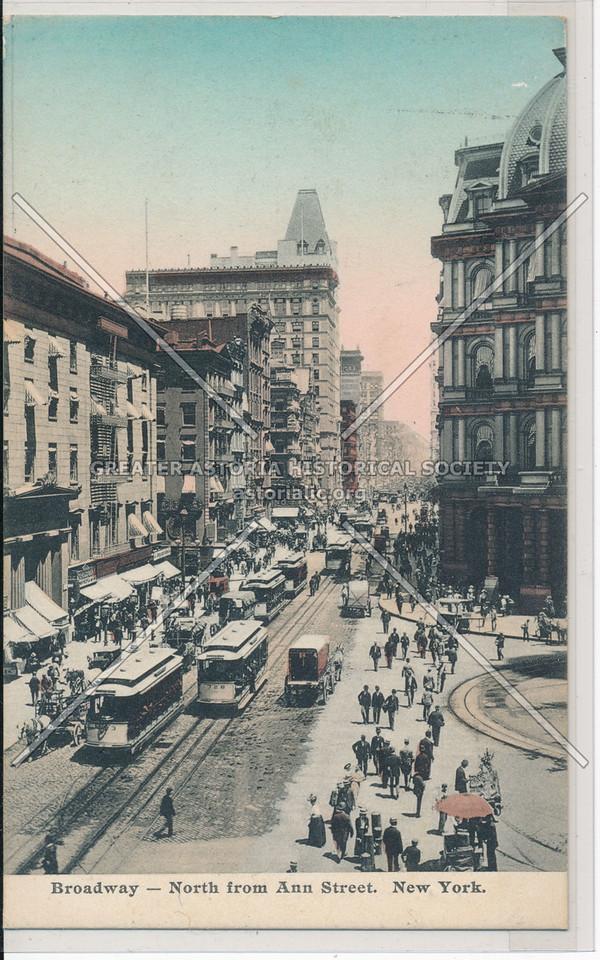 Broadway- North from Ann Street. New York