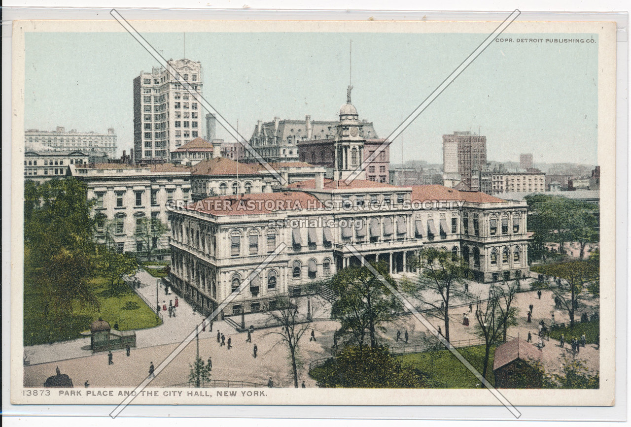 Park Place And The City Hall, New York