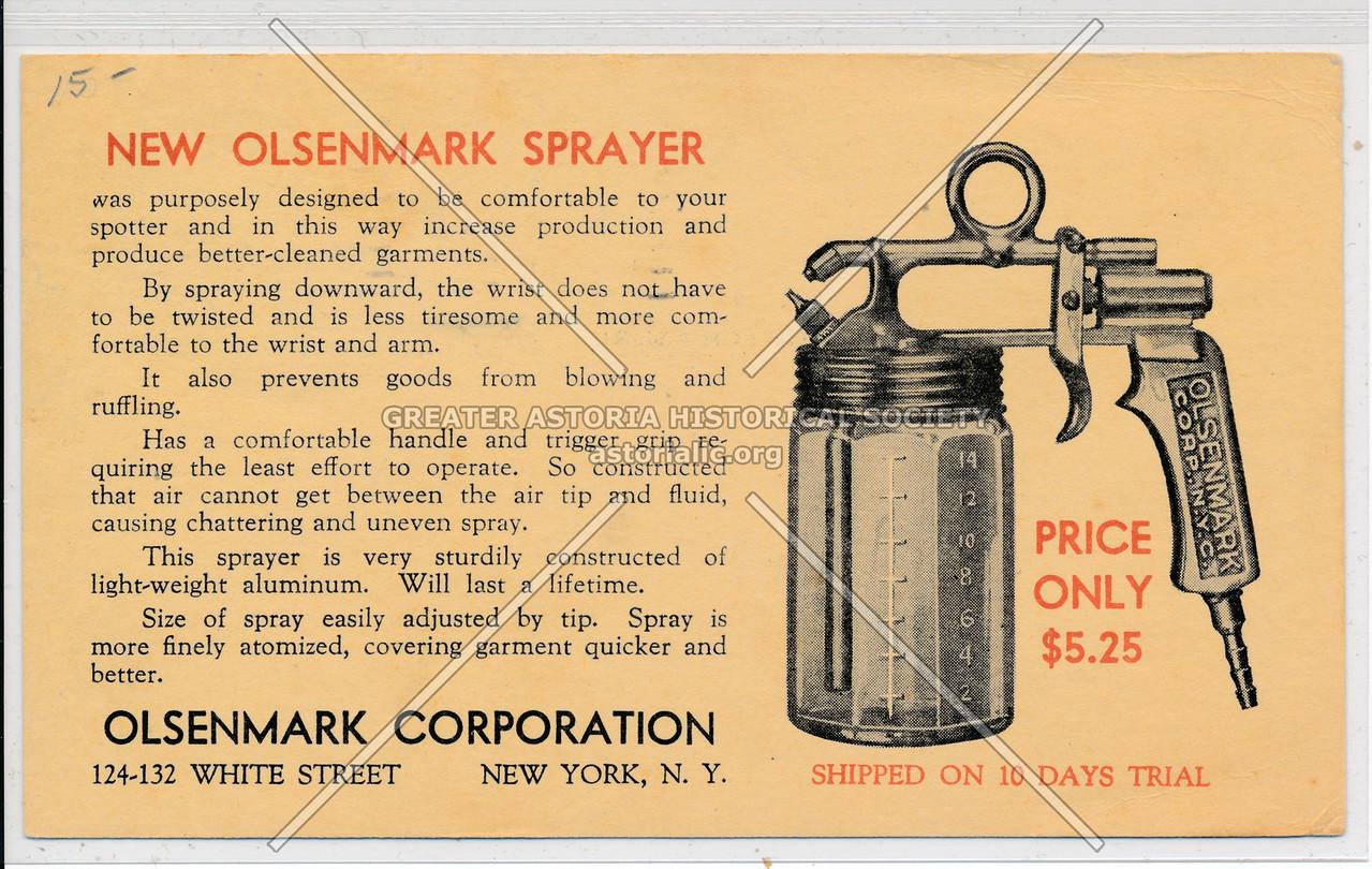 Olsenmark Corporation,  124-132 White Street, New York, N.Y.