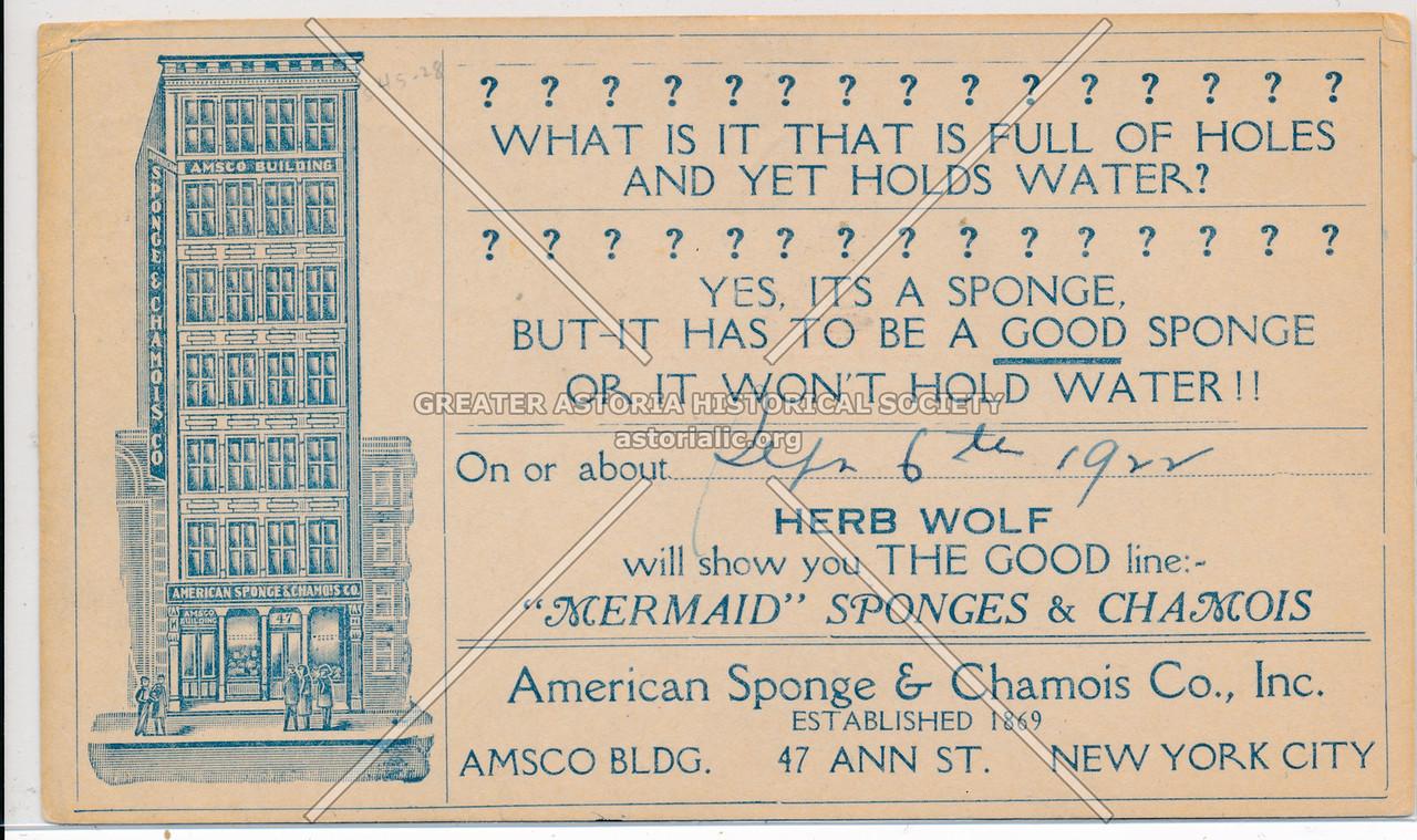 American Sponge & Chamois Co., Inc., Established 1869