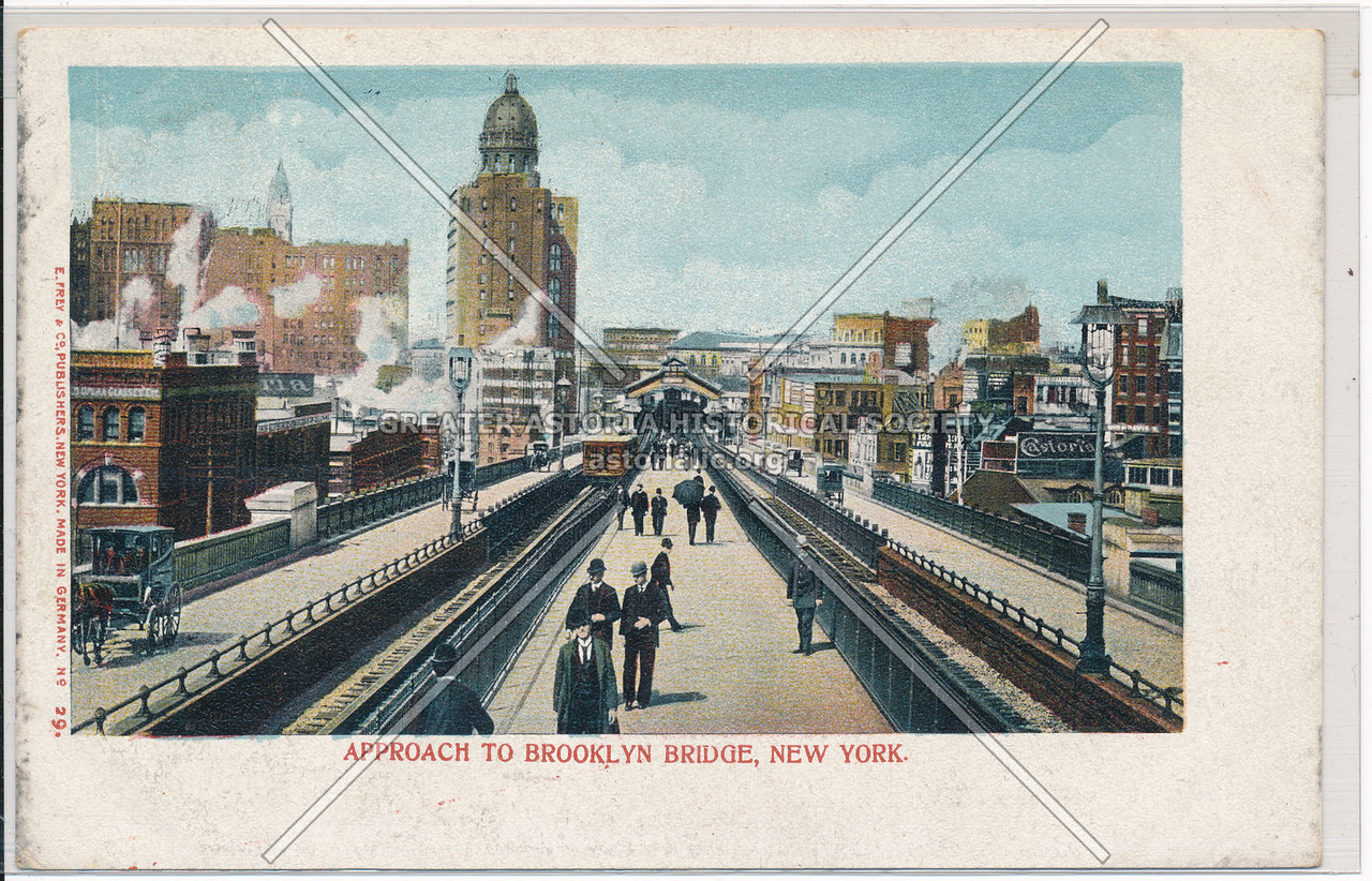Approach To Brooklyn Bridge, New York
