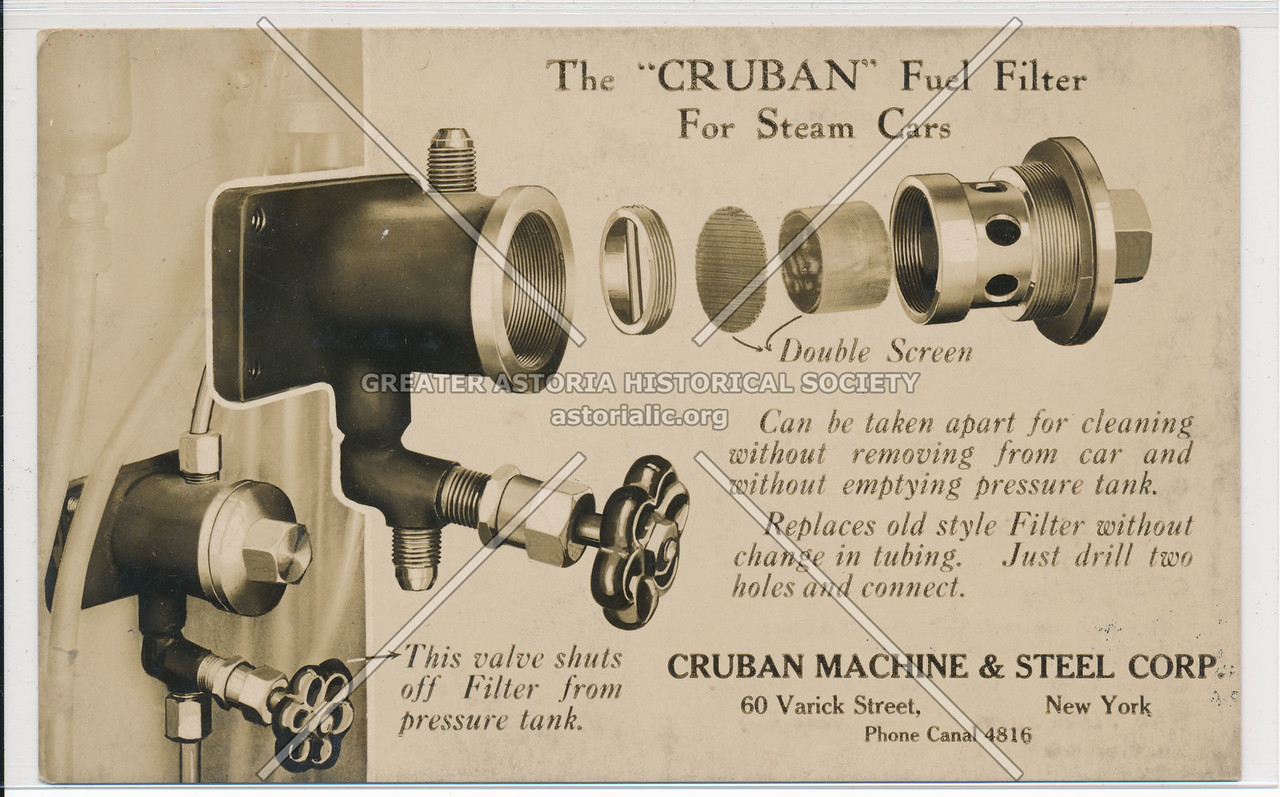 "The ""Cruban"" Fuel Filter For Steam Cars"
