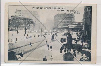 Printing House Square, N.Y. Entrance To Brooklyn Bridge