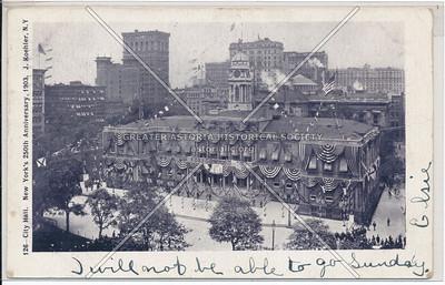 City Hall, New York's 250th Anniversary, 1903