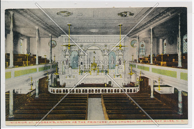Interior St. Andrew's, Known As The Printers' And Church Of Noon-Day Mass, N.Y.