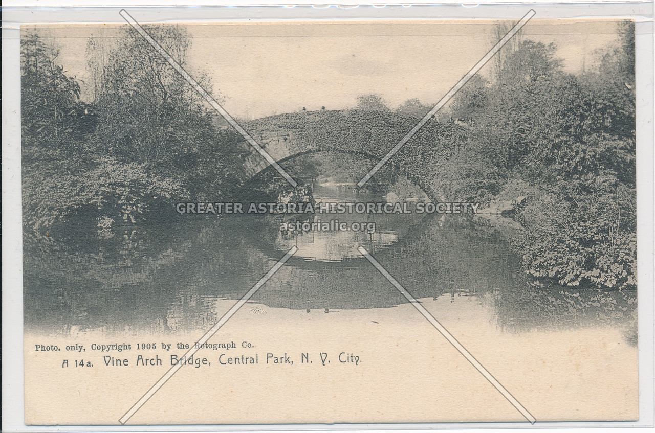 Vine Arch Bridge, Central Park, N.Y. City.