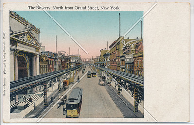 The Bowery, North from Grand Street, New York.