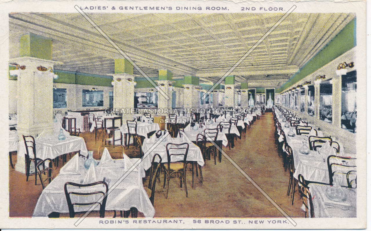 Ladies' & Gentlemen's Dining Room, 2nd Floor, Robin's Restaurant