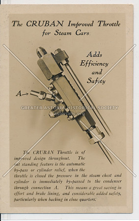 The Cruban Improved Throttle for Steam Cars