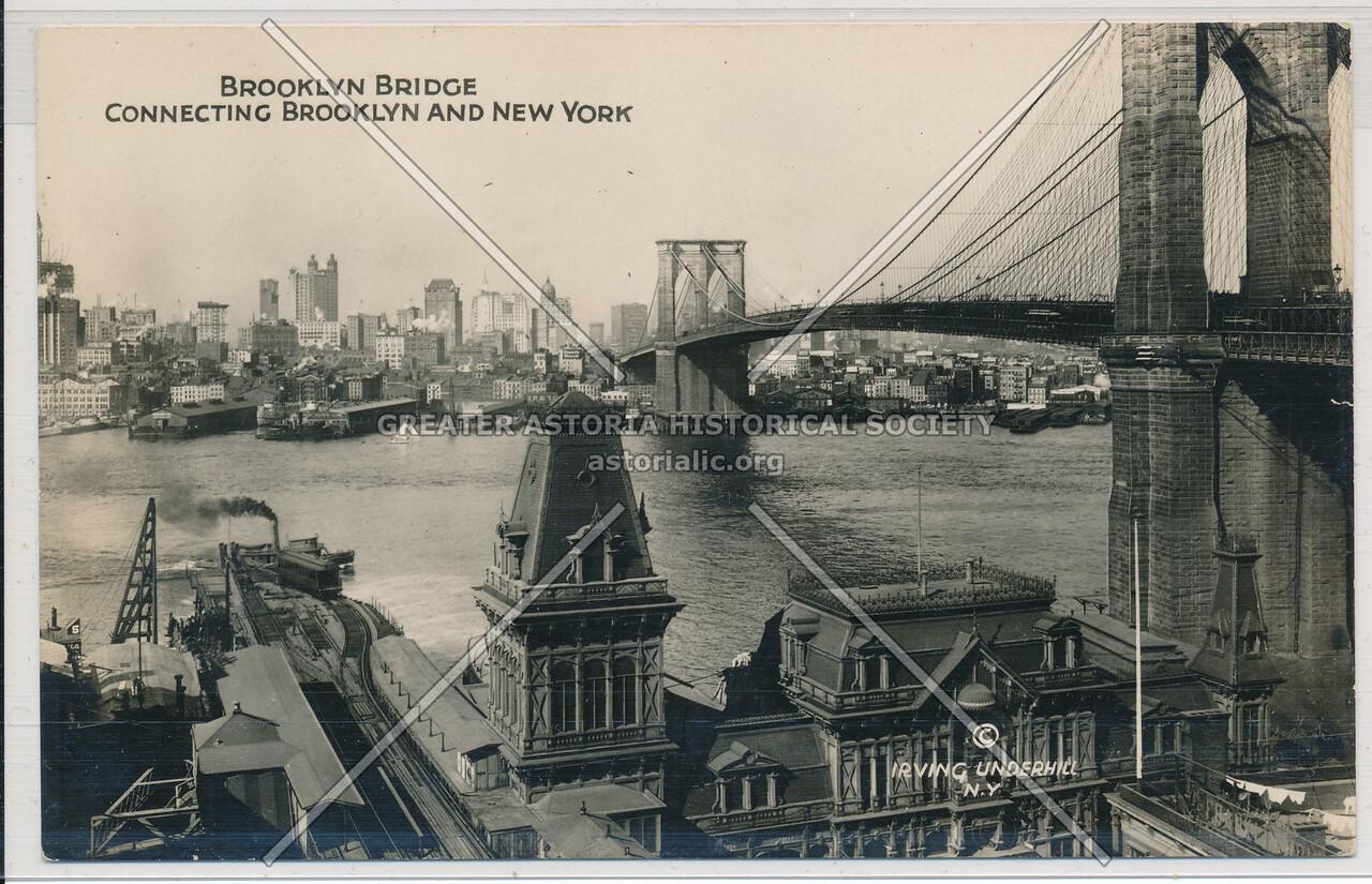 Brooklyn Bridge Connecting Brooklyn And New York