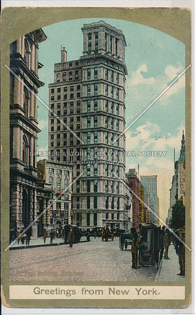 St. Paul Building, Broadway, Greetings from New York