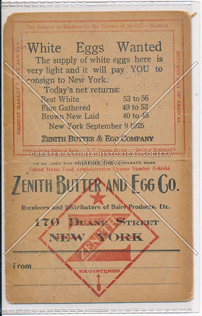 Zenith Butter And Egg Co.