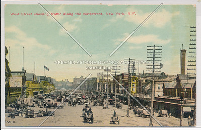 West Street showing traffic along the waterfront, New York, N.Y.