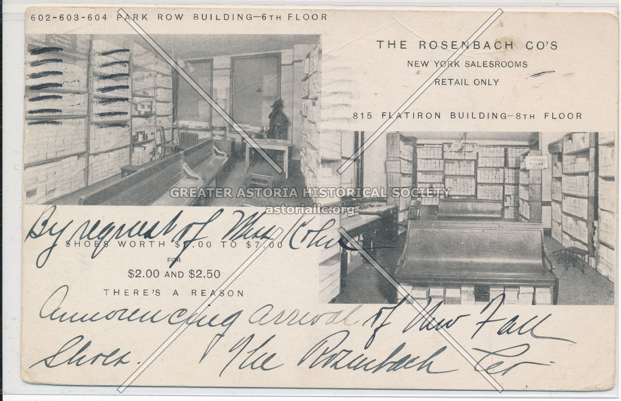 The Rosenbach Co's New York Salesrooms, Retail Only