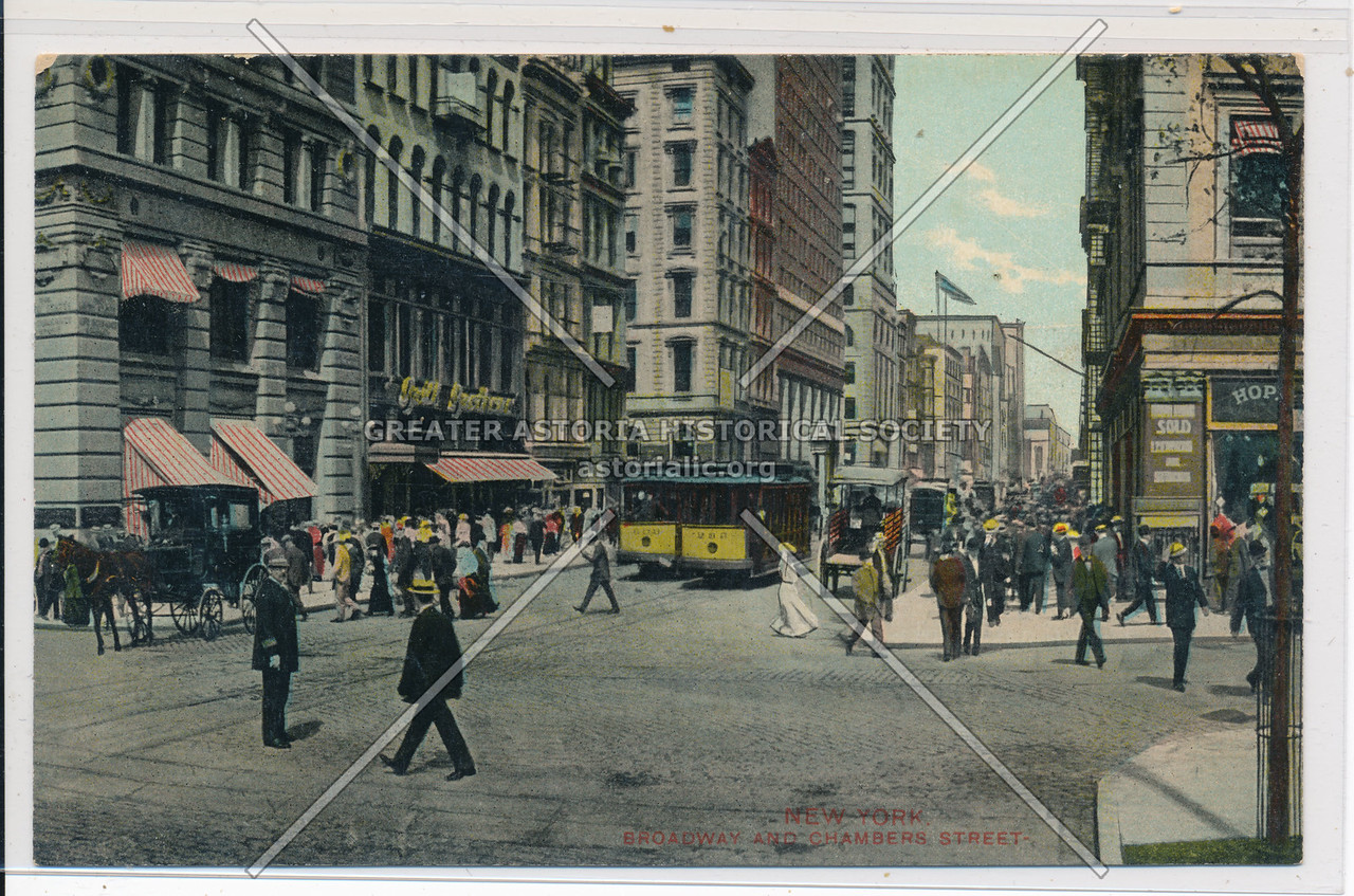 New York. Broadway And Chambers Street