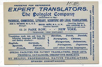 Expert Translators. The Polyglot Company (Established in 1895)