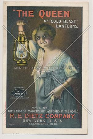 """""""The Queen Of 'Cold Blast' Lanterns"""" R.E. Dietz Company, New York, U.S.A."""