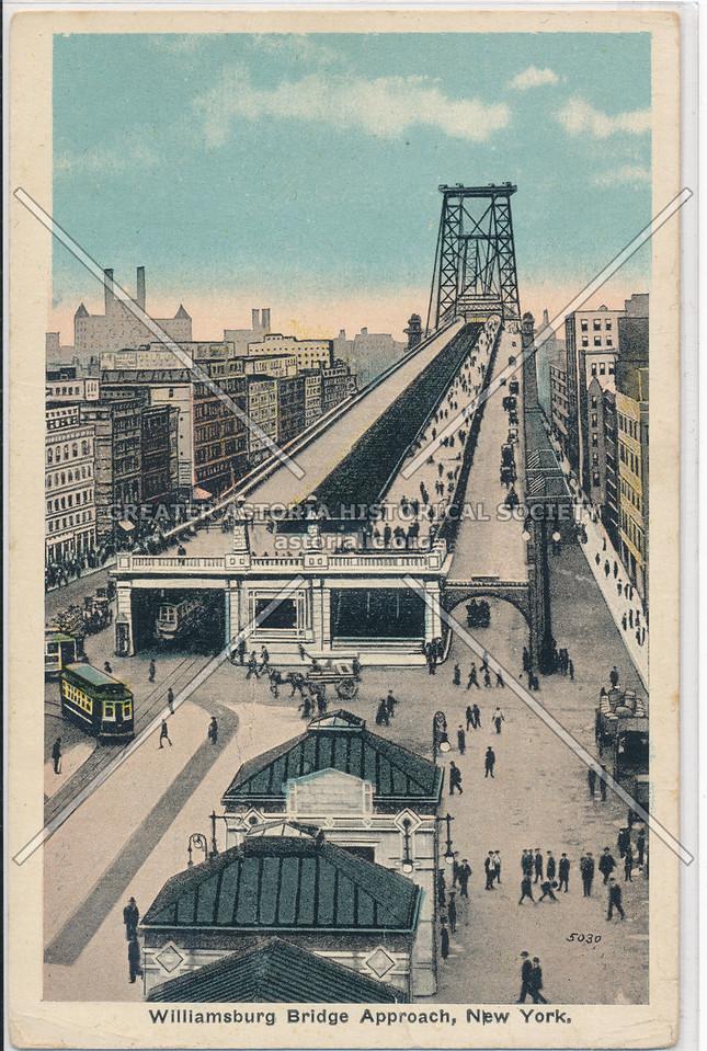 Williamsburg Bridge Approach, New York.