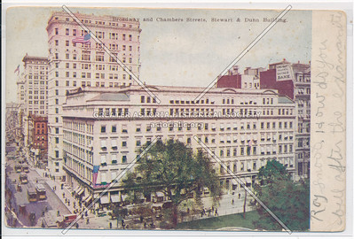 Broadway and Chambers Streets, Stewart & Dunn Building