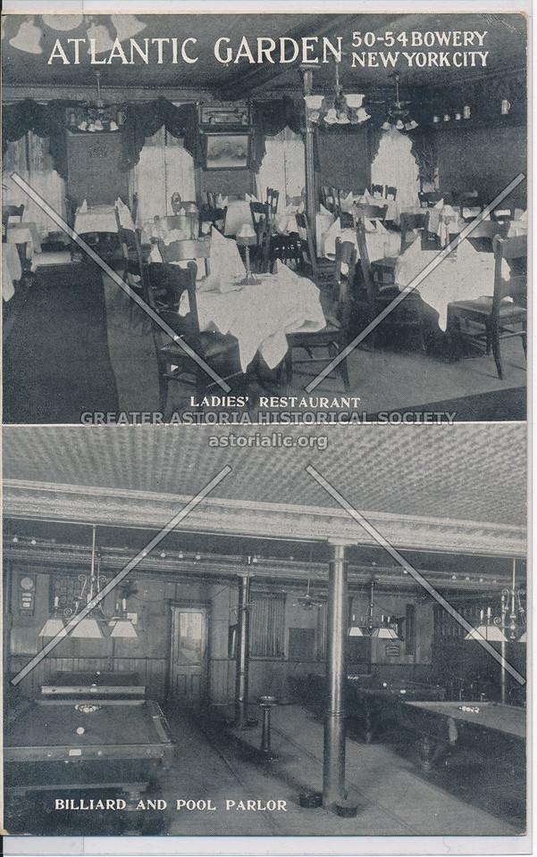 Atlantic Garden Ladies' Restaurant and Billiard and Pool Parlor