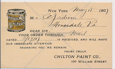 Chilton Paint Co., 100 William Street