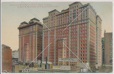 Greenwich St. Front of Church Street Terminal, Hudson & Manhattan R.R. Company's Tunnel