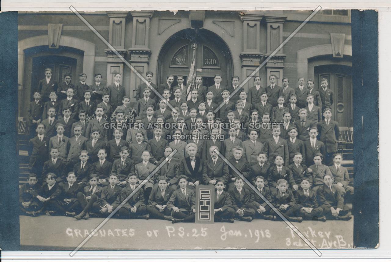 Graduates Of P.S. 25 January 1913