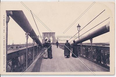 Promenade, Brooklyn Bridge, N.Y.