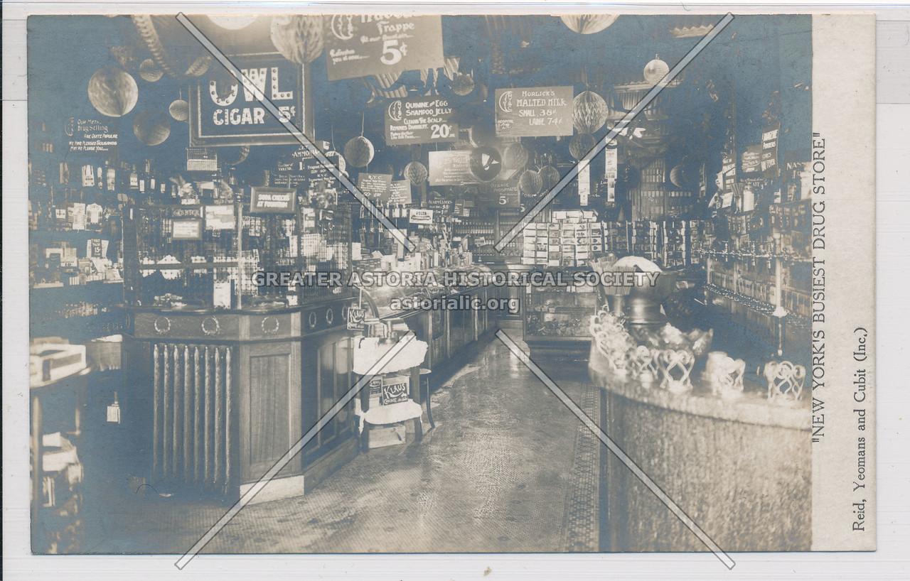 New York's Busiest Drug Store, 140 Nassau St.