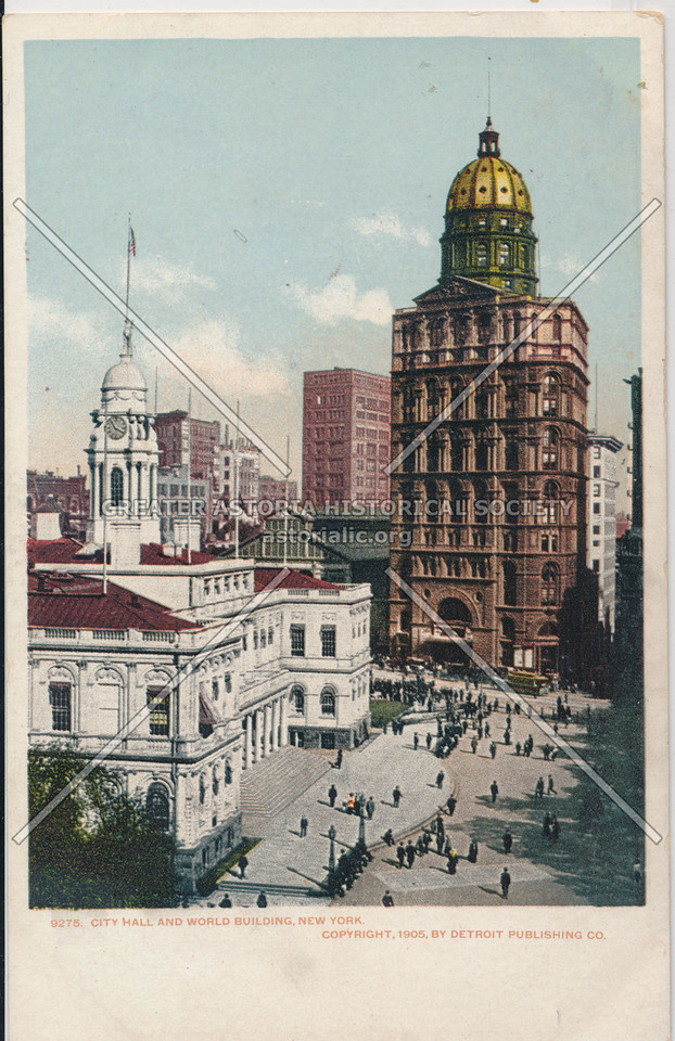 City Hall and World Building, New York