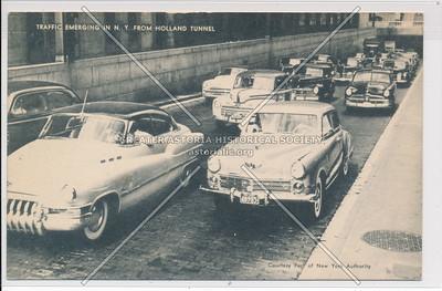 Traffic Emerging In N.Y. From Holland Tunnel