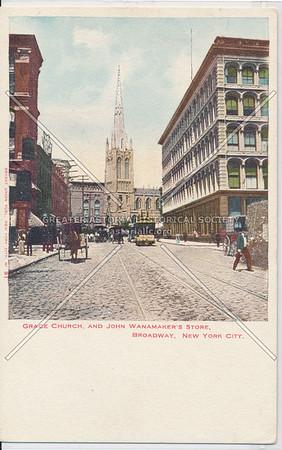 Grace Church, And John Wanamaker's Store, Broadway, New York City