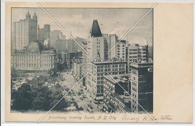 Broadway looking South, N.Y. City