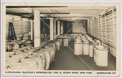 Lackawanna Railroad's Refrigerator, Pier 13, North River, New York