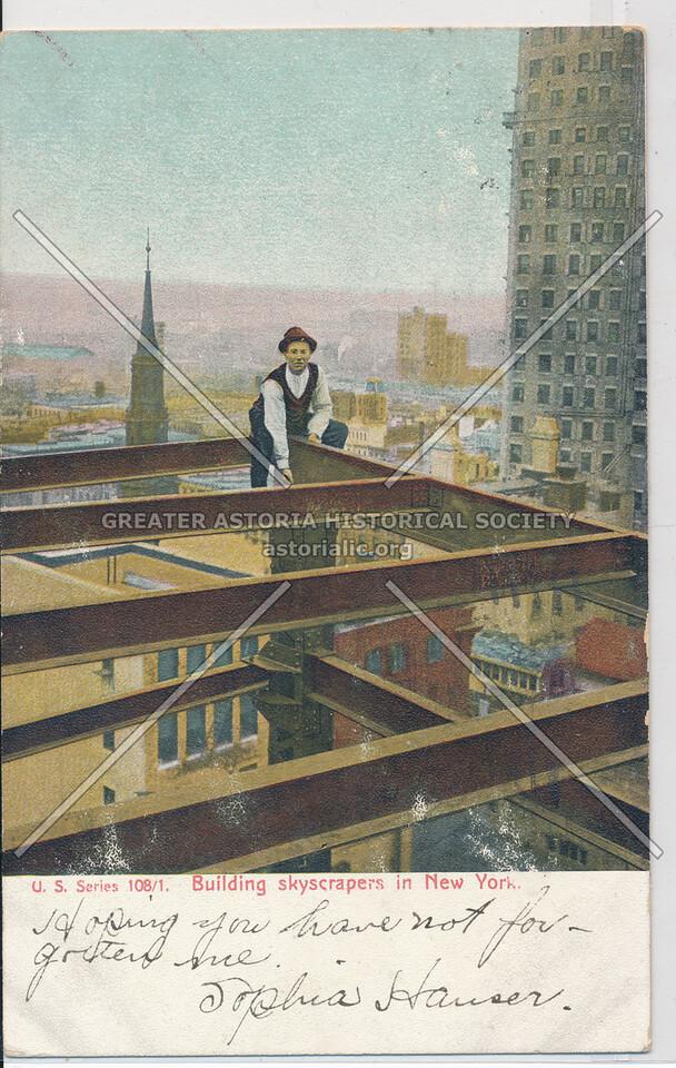 U.S. Series 108/1 Building skyscrapers in New York.