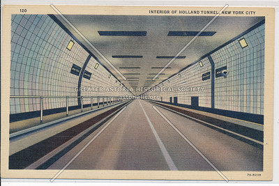 Interior Of Holland Tunnel, New York City